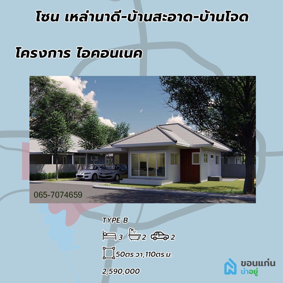 บ้านเดี่ยว โครงการบ้าน โครงการจัดสรร โครงการ ไอคอนเนค