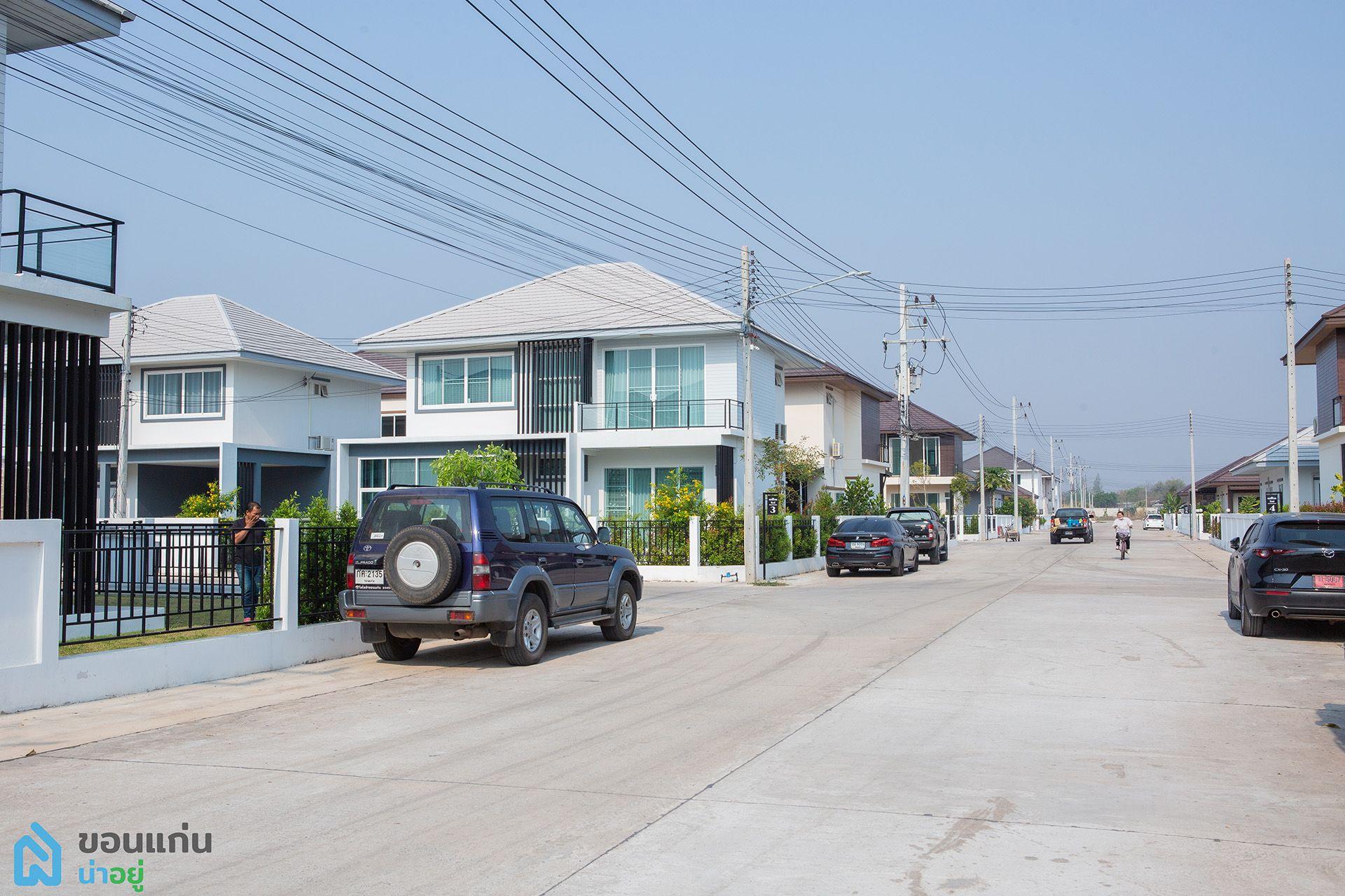 สินธาราพาร์ค บ้านสะอาด : ถนนหลักกว้าง12เมตร ถนนซอยกว้าง9เมตร